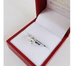 Bague Solitaire Diamants 0.26 ct Or Blanc 750 - 18 carats (Bijou Occasion)