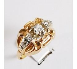 bague ancienne or 18 carats, bijoux vintage