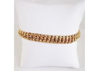 Bracelet Maille Américaine Or Jaune 18 carats