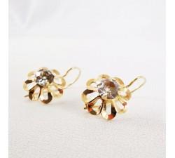 Boucles d'oreilles anciennes or jaune 18 carats