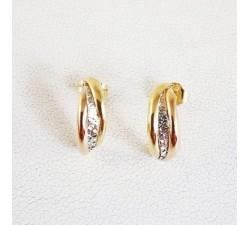 Boucles d'oreilles or jaune 18 carats, bijoux d'occasion.