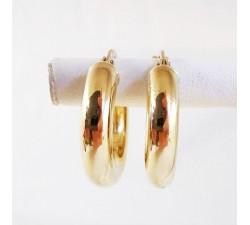 Créoles Or jaune 18 carats, bijoux d'occasion.