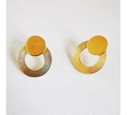 Boucles d'Oreilles Saturna Plaqué Or