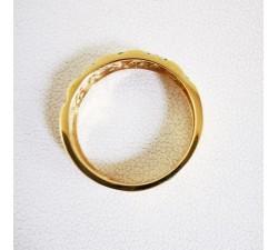 Demi Alliance Diamants Design Géométrique Or Jaune