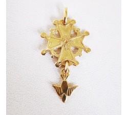 Croix Huguenote Or Jaune 18 carats