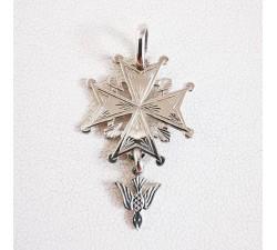 Croix huguenote Classique Or Blanc 18 carats