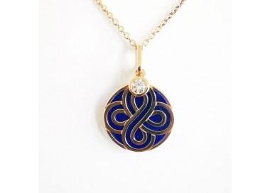 Collier Florence Lapis Lazuli Or Rose 750 (18 carats)