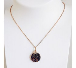 Collier Chance Lapis Lazuli Or Rose