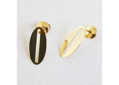 Boucles d'Oreilles tendance Or Jaune 750 (18 carats)