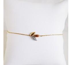 Bracelet Epis Diamants 3 Ors Or 750 (18 carats)