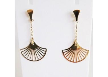 Boucles d'oreilles bohème Eventail Or Jaune 750 (18 carats)