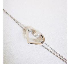 Bracelet Cœur Argent
