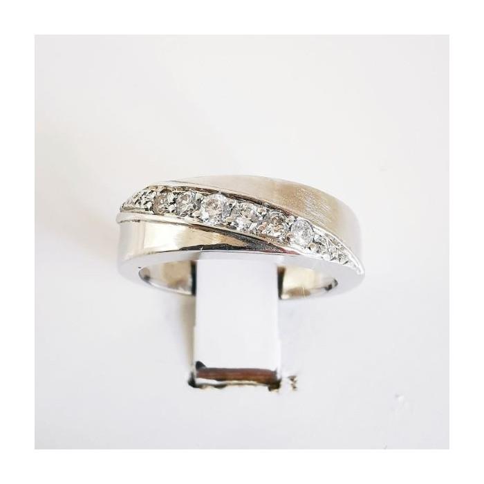 Bague Diamants Or Blanc 750 - 18 carats (Bijou Occasion)