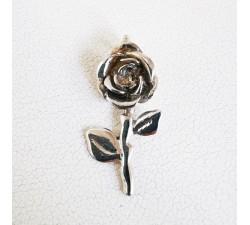 Pendentif Rose Argent