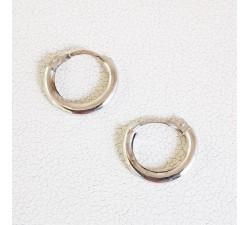 Créoles Or Blanc Petit Modèle