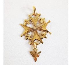 Croix Huguenote originale Or Jaune 189 carats