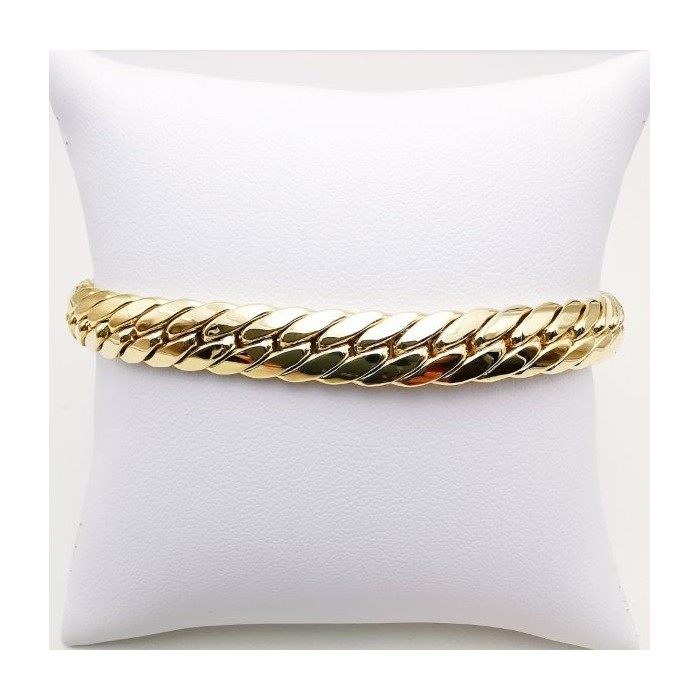 Bracelet Maille Anglaise Or jaune