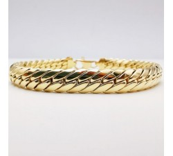Bracelet Maille Anglaise Or jaune 18 carats