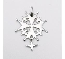 Croix Huguenote Or Blanc 750 - 18 carats