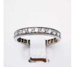 Alliance Tour Complet Diamants Or Blanc 750 - 18 carats (Bijou Occasion)