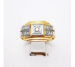 Bague des Années 30 Diamants Or Jaune 750 - 18 carats (Bijou Occasion)