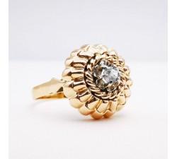 Bague Dôme des Années 50 Or jaune 750 - 18 carats (Bijou Occasion)