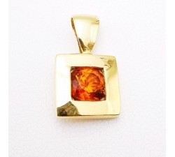 Pendentif Citrine Or Jaune 750 - 18 carats (Bijou Occasion)