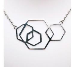 Collier Géométrique Argent Bijou de créateur
