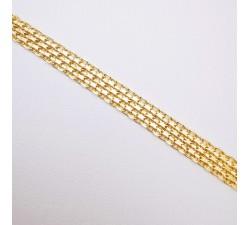 Bracelet Maille Bismarck Or Jaune 750 - 18 carats