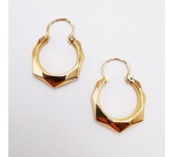Créoles Anciennes Or Jaune 750 - 18 carats (Bijou d'Occasion)