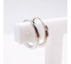 Créoles Petit Modèle Or Blanc 750 - 18 carats