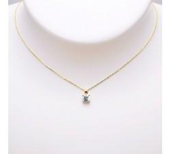 Collier Oxyde de Zirconium Or Jaune 750 - 18 carats