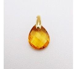 Pendentif Citrine Or Jaune 750 - 18 carats