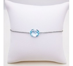 Bracelet Topaze Or blanc 750 - 18 carats